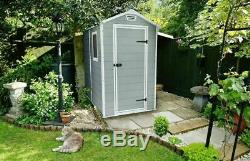 Garden Shed Outdoor Storage Waterproof Lockable Building Yard Bicycle Bike Small