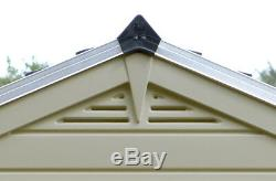 Garden Skylight 6' x 3' Floored Storage Shed, All-Weather Poly-carbonate Panels