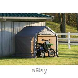Garden Storage Shed Metal Canopy Outdoor 6 ft x 6 ft Motorcycle Cover Waterproof