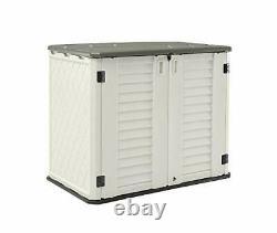 HOMSPARK Horizontal Storage Shed Weather Resistance, Multi-Purpose Outdoor Stora