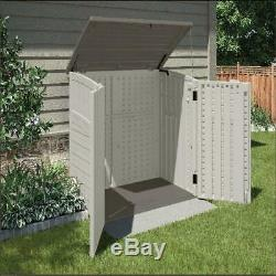 Horizontal 34 cu ft Storage & Utility Shed Roof Doors Plane Heavy Duty Resistant