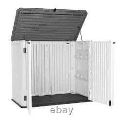 Horizontal Outdoor Storage Shed for Backyards and Patios 34 Cubic Feet Capacity
