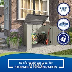 Horizontal Resin Outdoor Storage Shed with Floor Suncast BMS2500 53 x 31.5 x 45.5