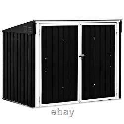 Horizontal Storage Shed 68 Cubic Feet For Garbage Cans Pool Supplies Organizer