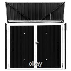 Horizontal Storage Shed 68 Cubic Feet for Garbage Cans