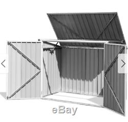 Horizontal Storage Shed Garden Tool Organizer 68 Cubic Feet Outdoor Trash Can