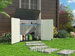 Horizontal Storage Shed Weather Resistance, Multi-Purpose Outdoor Stora
