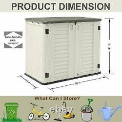 Horizontal Storage Shed Weather Resistance Multi-Purpose Outdoor Storage Box for