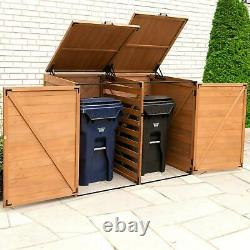 Horizontal Trash and Recycling Storage Shed