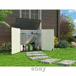 Ivory/Gray 4 ft. W x 2 ft. 5 in. D Plastic Horizontal Storage Shed