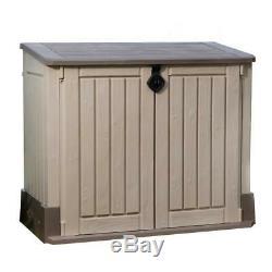 KETER Outdoor Storage Shed Cabinet Garage Tools Hose Trashcan Lockable Organizer