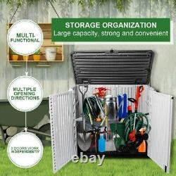 KINYING 26 Cu Ft Horizontal Storage Shed for Backyard, Garden, Patio, Deck