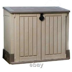 Keter 211166 4.3 x 2.5 Outdoor Horizontal Storage Shed Beige/Brown