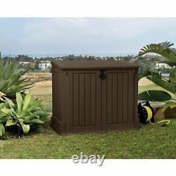 Keter 211166 4.3 x 2.5 Outdoor Horizontal Storage Shed Dark