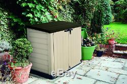 Keter 226814 Storage Shed Resin Plastic Beige Brown 42 Cu Ft Outdoor Garden Yard