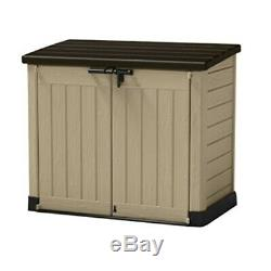 Keter 226814 Store-It-Out MAX 4.8 x 2.7 Outdoor Resin Horizontal Storage Shed