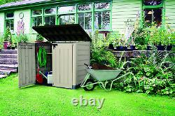 Keter 226814 Store-It-Out Max 4.8 X 2.7 Outdoor Resin Horizontal Storage Shed, 4