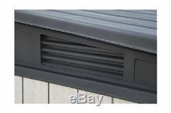 Keter 236905 Elite Outdoor Storage Shed, Grey/Black