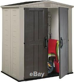 Keter Factor 6x3 Outdoor Storage Shed Kit-Perfect to Store Patio Furniture