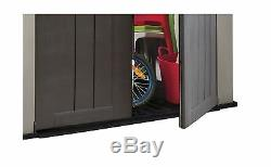 Keter Factor Storage Shed Large 6 x 3 ft Resin Steel Outdoor Backyard Garden New