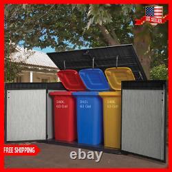 Keter Grande Horizontal Outdoor Storage Sheds Durable Polypropylene Resin New