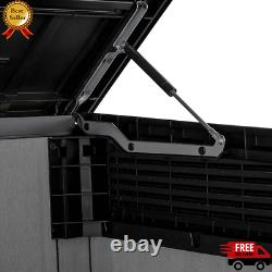 Keter Grande Horizontal Shed Durable Polypropylene Resin Heavy-Duty Floor New