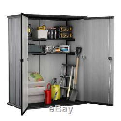 Keter High Store Outdoor Storage Shed with Heavy Duty Floor Panel @@
