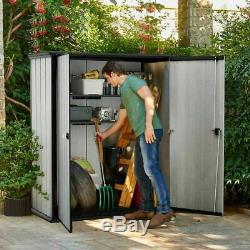 Keter High Store Storage Shed, 62.05 cu. Ft. Storage Capacity NEW
