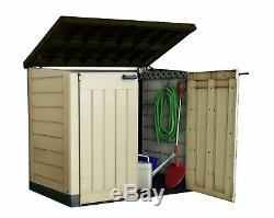 Keter Large Garden Tools Storage Box Plastic Outdoor Wheelie Bin Bike Shed Store