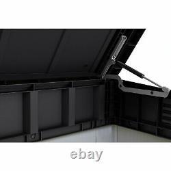 Keter Premier XL 41 Cu. Ft. Horizontal Outdoor Storage Shed Gray Vinyl Lockable