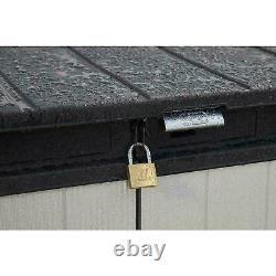 Keter Premier XL 41 cu. Ft. Horizontal Outdoor Storage Shed, Gray Vinyl Lockable