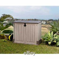 Keter Shed Outdoor Box Storage Double Doors Resin Store-It-Out MIDI Horizontal
