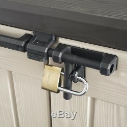 Keter Storage Shed Resin Plastic Double Door Home Outdoor Patio Garden Backyard