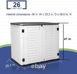 Kinying Outdoor Storage Shed Horizontal Storage Shed Waterproof For Garden, Pa