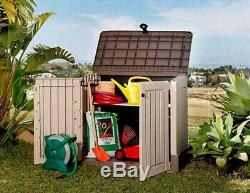 Large Garden Box Storage Cabinet Plastic Shed Deck Outdoor Patio Garage Utility