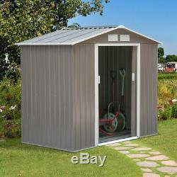 Large Metal Shed Heavy Duty DIY Kit Outdoor Garden Lawn Mower Tool Bike Storage