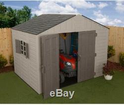 Large Outdoor Quality Storage Shed Double Door Window Heavy Duty Resin Plastic