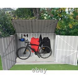 Lean To Garbage 7 ft. W x 3 ft. D Metal Horizontal Storage Shed