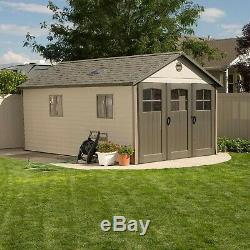 Lifetime 11' x 21' Shed + floor 60237 skylights windows garden lawn storage NEW