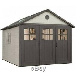 Lifetime 11x21 Storage Shed Garage with 9ft Wide Doors 60237