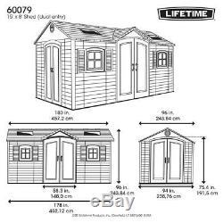 Lifetime 15 ft. X 8 ft. Double Door Storage Shed