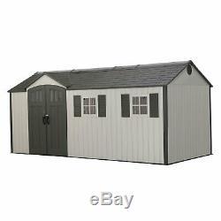 Lifetime 17.5 X 8 Outdoor Storage Shed Steel Reinforced Garden Building 60214