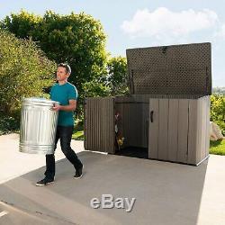 Lifetime 60341 75 Cu. Ft. Horizontal Outdoor Garden Storage Shed Lockable