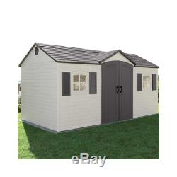 Lifetime 6446 15 Ft. X 8 Ft. Outdoor Storage Shed Building Garage N0 Tax
