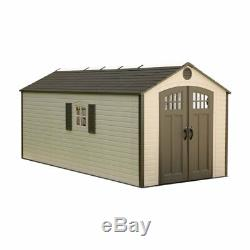 Lifetime 8 x 17.5 ft. Outdoor Storage Shed