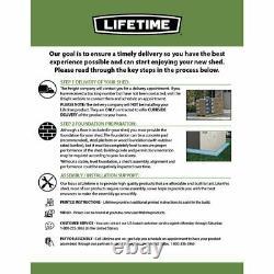 Lifetime Horizontal Storage Shed (75 cubic feet), 60170