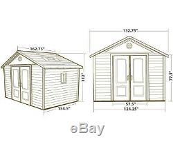 Lifetime Outdoor Storage Shed Building 6415 11x13.5 Sturdy Garden Shed With Floor