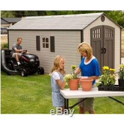 Lifetime Sheds 8x17.5 Plastic Storage Shed with 2 Windows 60121