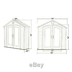 Lifetime Sheds 8x2.5 Plastic Storage Shed Kit with Floor (6413)
