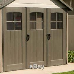 Lifetime Storage Building 11' x 21' Outdoor Living Garage Sheds Tan 60237 NEW